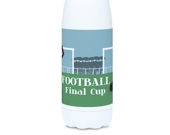 Football water bottle gift to personalise for boy or teen soccer player or football coach or football Christmas gift or foot birthday gift