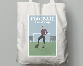 The English Game Vintage Football tote bag for soccer player or football coach or football Christmas gift or football birthdy gift