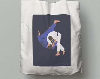 Judo tote bag gift for boy or teen judo player or judoka coach or judo christmas gift or judo birthday gift or judo father gift