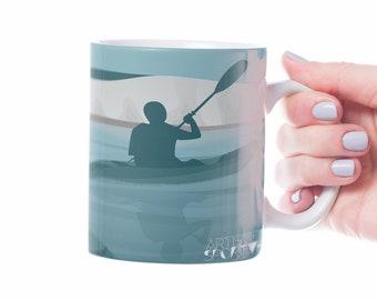 Canoe kayak mug gift to personalise for kayaker birthday or canoe kayak christmas gift or canoe kayak coach or father's day or mother's day