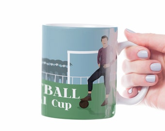The English Game Vintage Football mug to personalise for soccer player or football coach or football Christmas gift or birthday gift