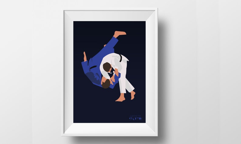 Judo poster gift illustration for boy or teen judo player or image 0