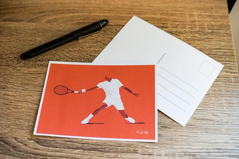 Tennis card for tennis birthday card or tennis christmas card image 1