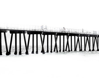 Hermosa Beach Pier| Custom Printed Yoga Mat | Great Gift | Motivational | Personalize | High Quality | Beach Yoga |Ships Within 24 Hrs !