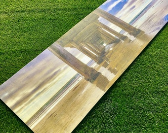 Custom Printed Scripps Pier Beach Yoga Mat | San Diego | LaJolla | Sunset | Great Gift | Corporate Gifts | Yoga Retreat