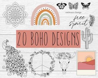 Boho SVG Bundle, Big Bundle SVG file for Cricut, Boho bundle SVG - Digital Download
