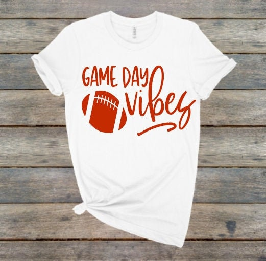 Game Day Vibes Shirtfootball Shirtscute Football Shirtunisexgreat Gift Unisex Tshirt