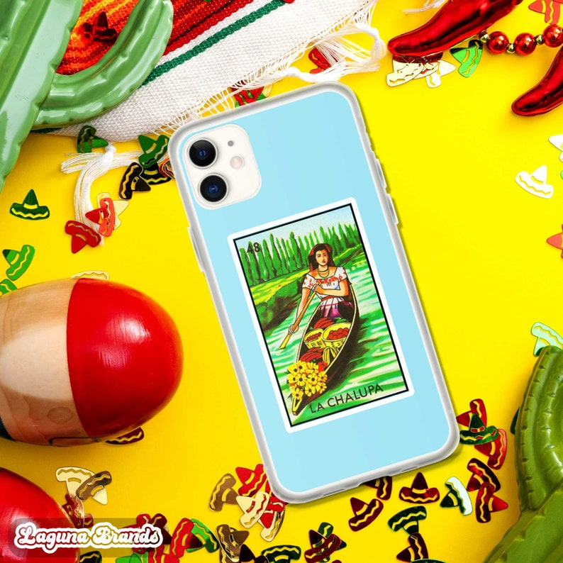 Funda y Protector para M\u00f3vil de la Tradicional Loter\u00eda Mexicana Draft La Chalupa Mexican Lottery Card Game Phone Case