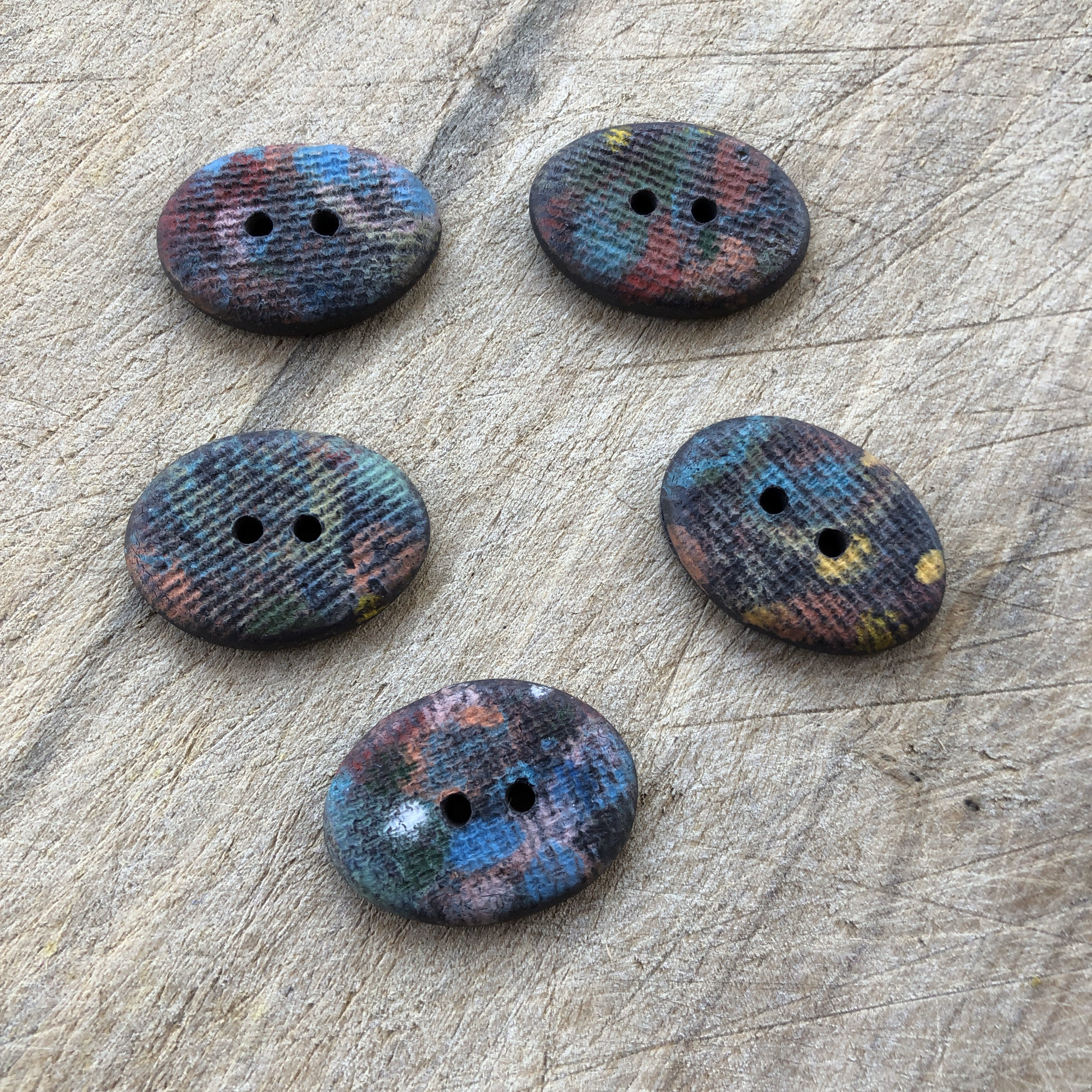 Ceramic Buttons ~ Ceramic Buttons Handmade ~ Buttons for Hats ~ Handmade Buttons ~ Button for Jewelry Making ~ Button for Hair Bows ~ 4007