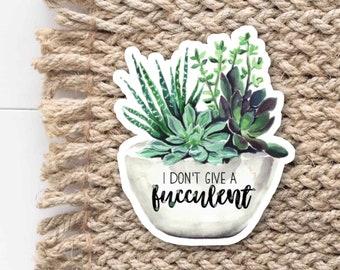 Succulent Laptop Sticker