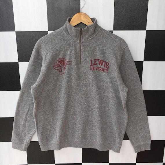 Lewis University Quarter Zip Sweatshirt Jumper Lew
