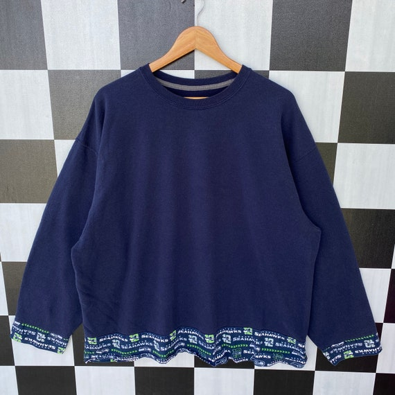Vintage Seattle Seahawks Nfl Sweatshirt Jumper Sea