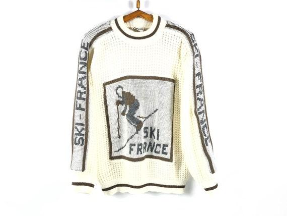 Rare Vintage Sweater Need Clothing Ski France Big… - image 1
