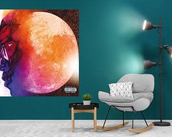 "Kid Cudi Speedin Bullet To Heaven Album Poster Art Print 12x12/"" 24x24/"" 32x32/"""