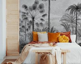 Vintage Tropical Arthur Wallpaper Mural - Removable Self-adhesive Wallpaper