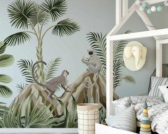 Children's Animal Burrans Wallpaper Mural - Removable Self-adhesive Wallpaper
