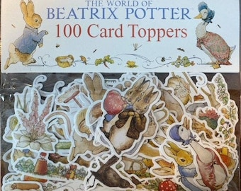 FREE SHIPPING in Canada and USA - 100 Beatrix Potter stickers - Peter Rabbit stickers  - Ephemera, scrapbooking supplies,  embellishments