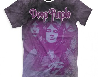 Deep Purple Rock Band SMOKE ON THE WATER Adult Heather T-Shirt All Sizes