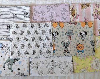 Disney Lady and the Tramp White Cotton Quilting Fabric Panel