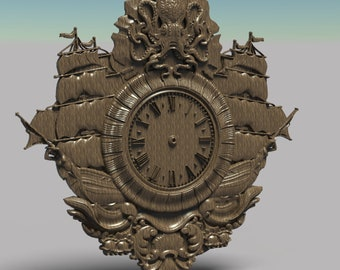 STL CNC File for Wood Router Bike Clock  Stl File for Cnc Carving Relief  3D Model Cnc  3D Printer File 1041.