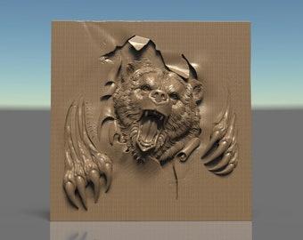 Router Engraver Carving Machine Relief Artcam 3d STL Model CNC D114 Panel