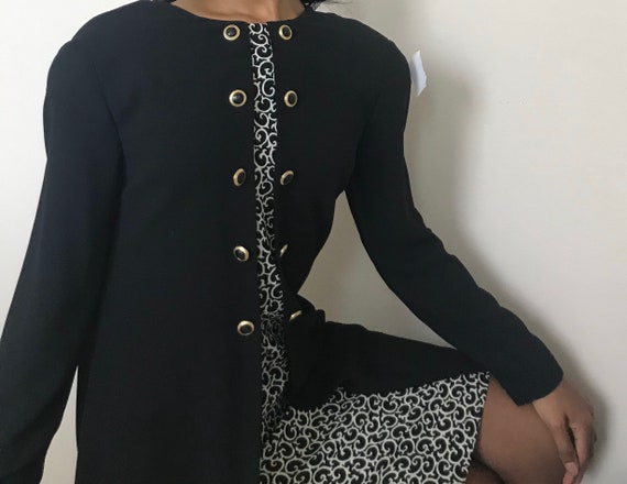 """Vintage """"Evan Picone"""" black Dress /80s vintage/197"""
