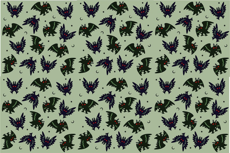 Mothman Collage Wrapping Paper