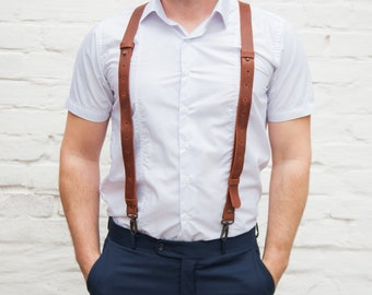 Brown suspenders men,Leather suspenders men wedding,Suspenders men leather,Mens suspenders brown,Light brown leather suspenders