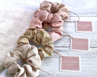 Creaseless Hair Tie Handmade Cute Hair Elastic Fast Shipping Retro Plaid Hair Scrunchies For Her Hair Elastic