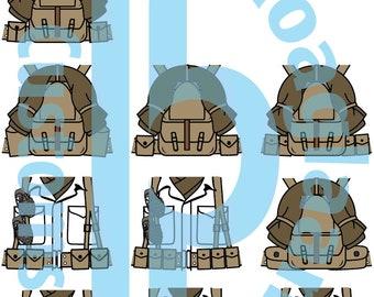 Korean Conflict U.S. Infantry Squad Pack