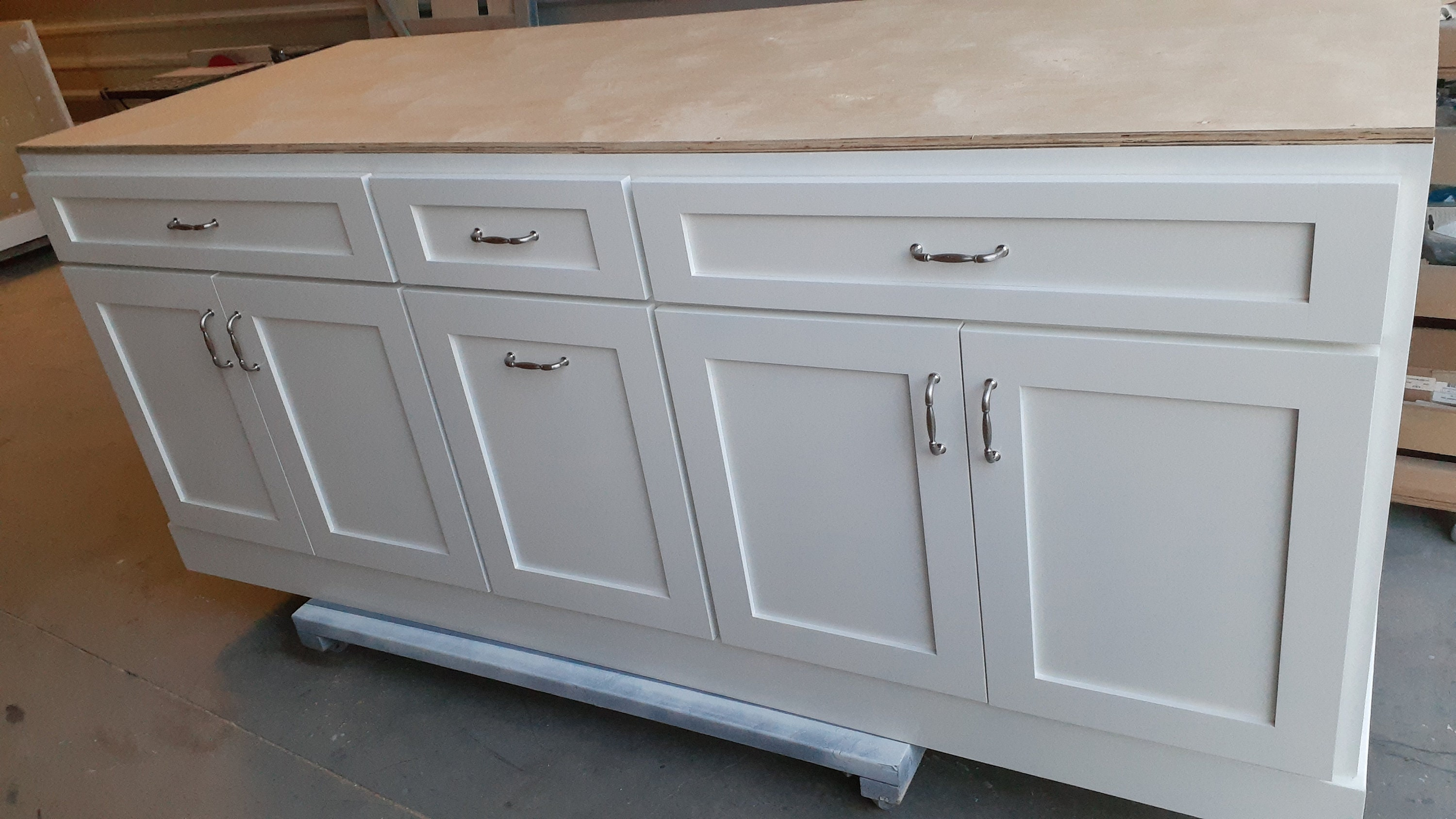 6ft White Kitchen Island Without Top Etsy