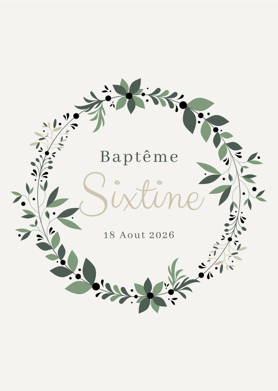 Sistine baptism party