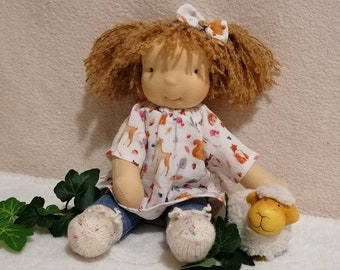 """Rag doll """"Stella"""", 32 cm, immediate purchase, type: Waldorf doll, doll child waldorf style, ready for dispatch, handmade with a lot of love"""