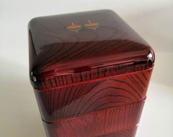 Vintage Japanese Lacquer Jubako Bento Lunch Box Made of Wood