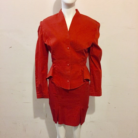 Mugler Late 80s/ Early 90s Power Suit