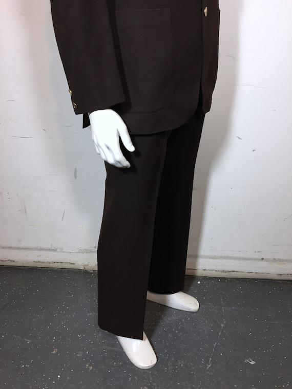 1970s Gorgeous Vintage Yves Saint Laurent Brown S… - image 4