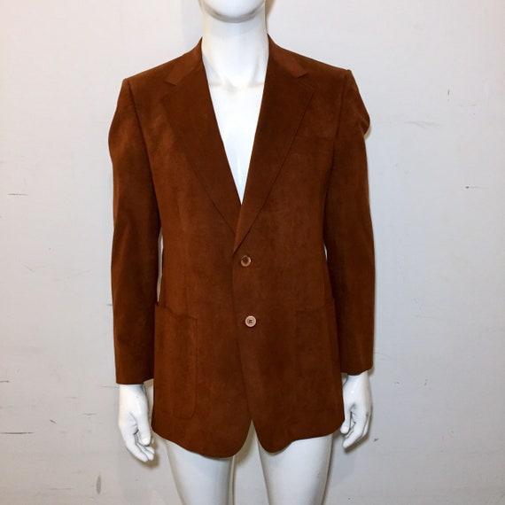 Vintage 1970s Halston Brown Ultra Suede Blazer
