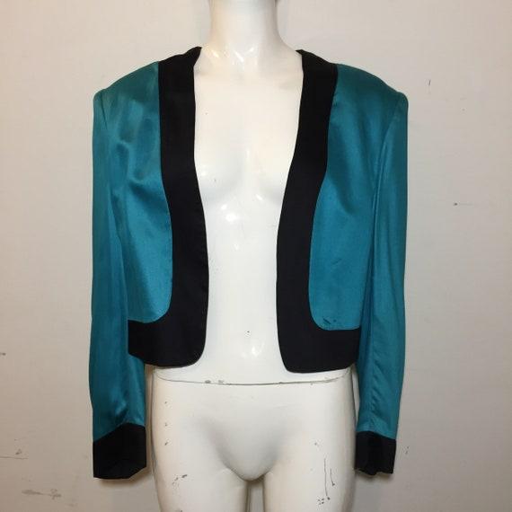 "Stephen Sprouse ""SPROUSE"" '83/85 Blue Satin Blazer"