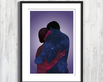 """Poster """"Love is two universes that embrace"""""""