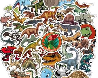 Dinosaurs Sticker pack - Random Assortment - FREE SHIPPING!- Scrapbooking - Hydro flask - water bottle - laptop - no residue - TRENDY!