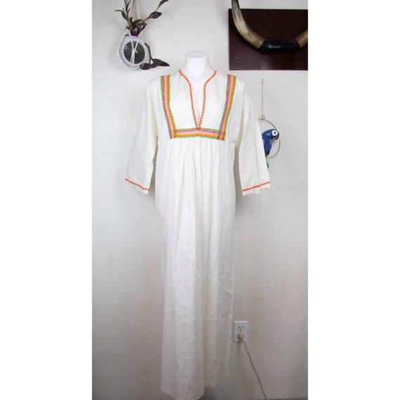 70s Plus Size Neon Prairie Dress
