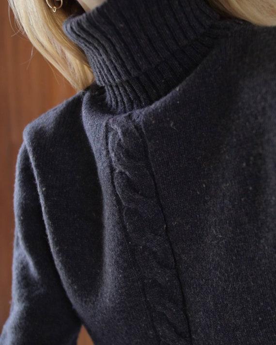 Brown woolen turtleneck