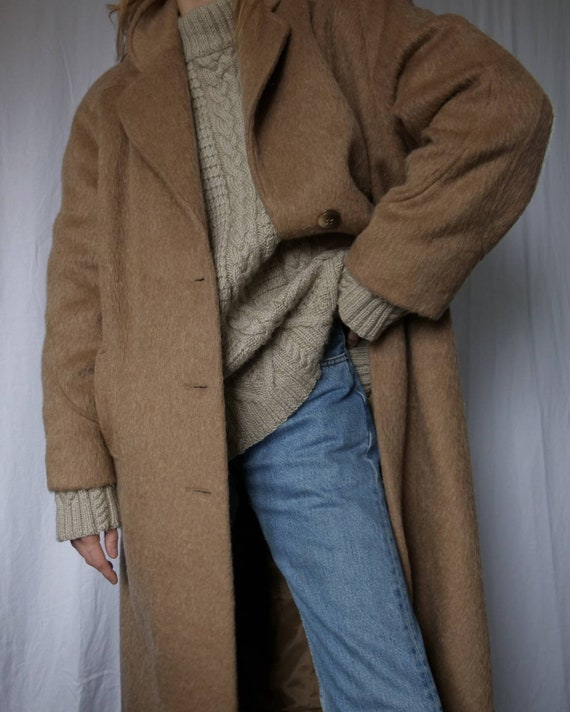 Vintage long camel hair coat