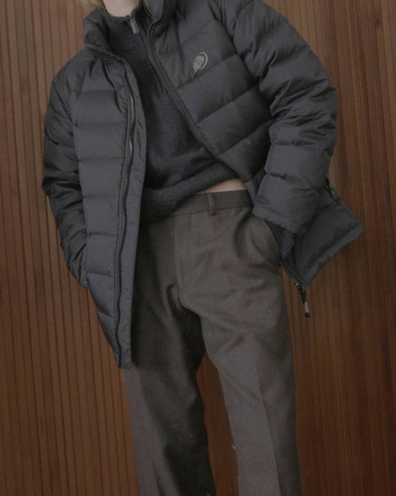 Vintage puffer jacket w/ feathers