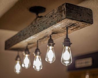 Rustic Farmhouse Light Fixture LED