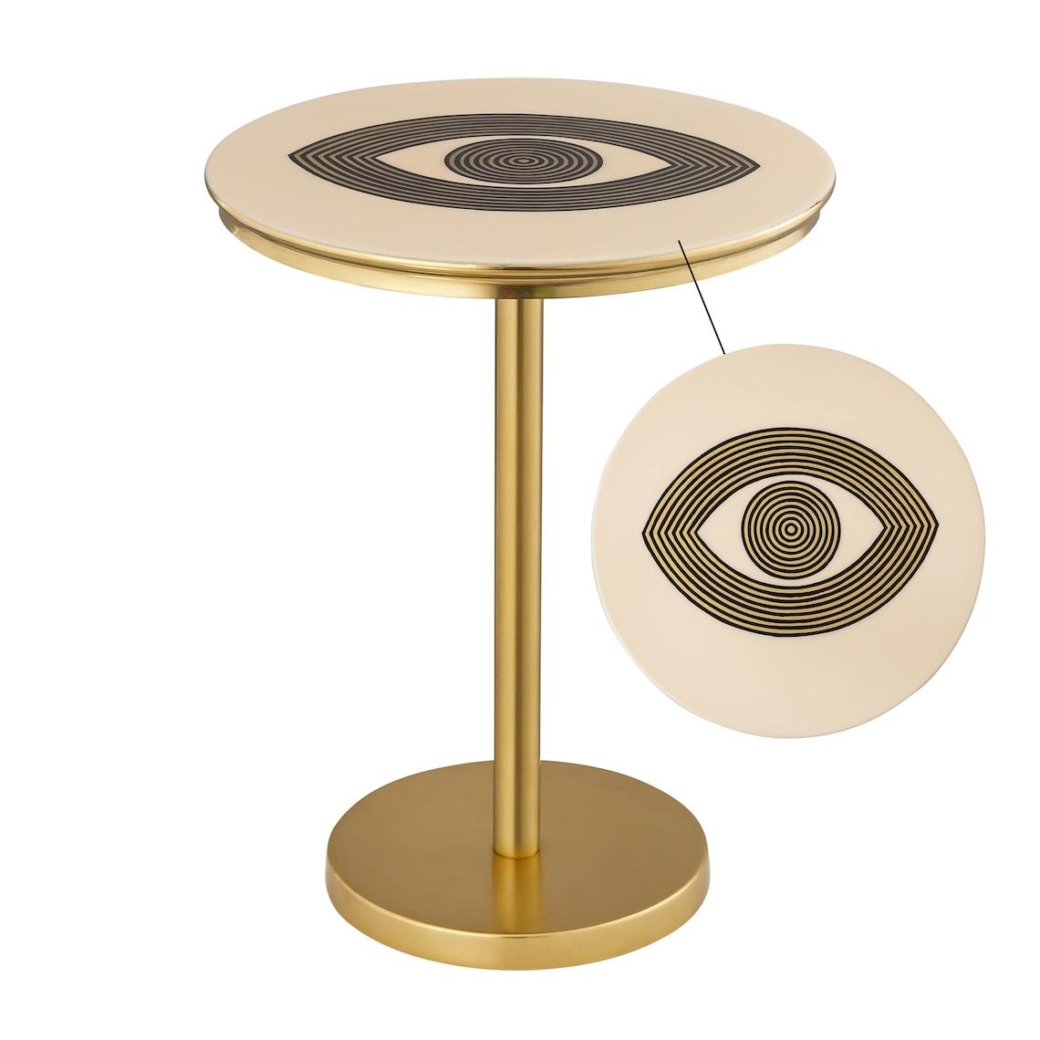 Eye Handpainted Side Table