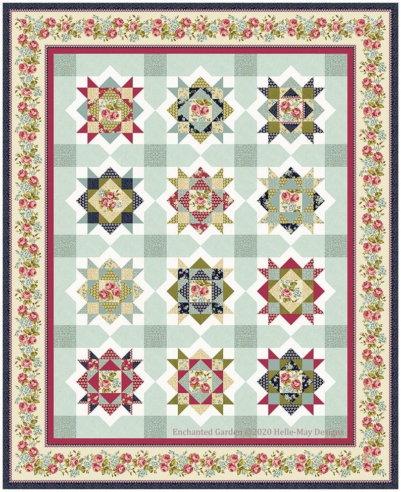 Enchanted Garden Quilt Pattern image 1