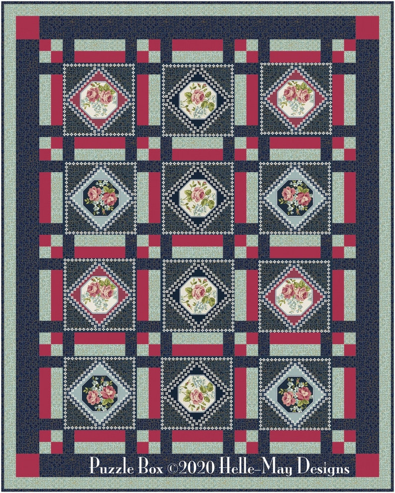 Puzzle Box Quilt Pattern image 0