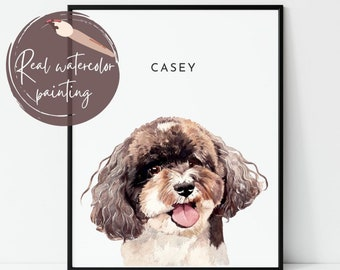 Bespoke pet Art from your Dogs photograph. Pet portraits Custom personalised Pet images REF: 1092