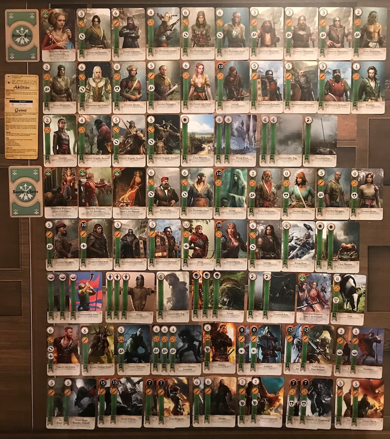 GWENT CARDS 5 DECKS 460 Cards Witcher 3 Full Set